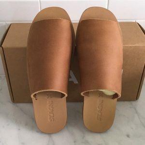 448ccb8a8f1c AGNI Shoes - ST. AGNI YUKA Slides (Tan